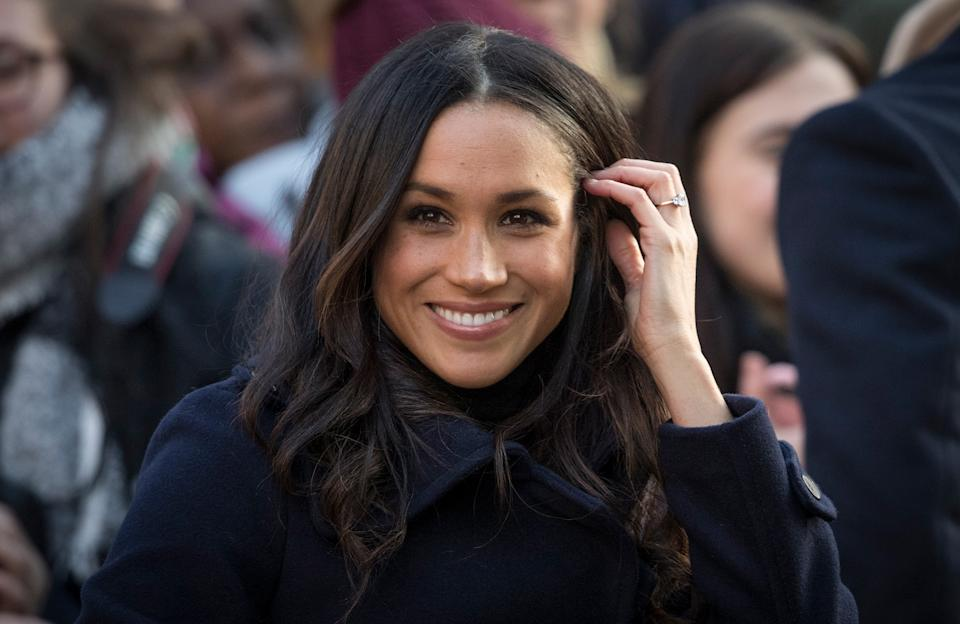 NOTTINGHAM, ENGLAND - DECEMBER 01:  Meghan Markle arrives at the Terrance Higgins Trust World AIDS Day charity fair at Nottingham Contemporary on December 1, 2017 in Nottingham, England. Prince Harry and Meghan Markle announced their engagement on Monday 27th November 2017 and will marry at St George's Chapel, Windsor Castle in May 2018.  (Photo by Christopher Furlong/Getty Images)