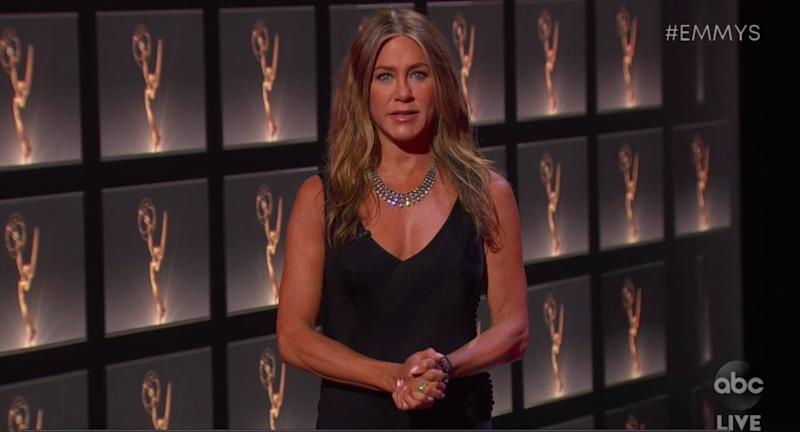 Jennifer Aniston Emmy 2020 appearance in-person