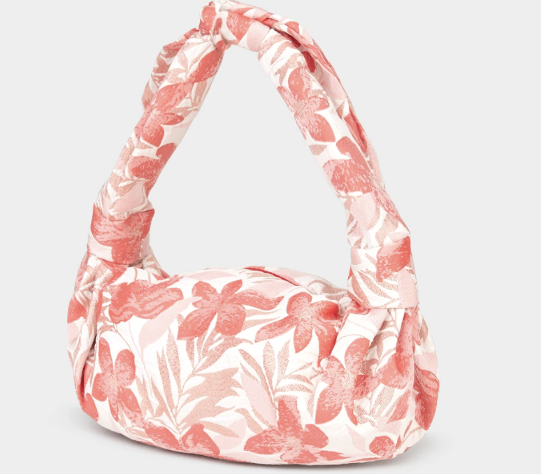PHOTO: Pomelo. Sparkly Print Cloth Baguette Bag, Red
