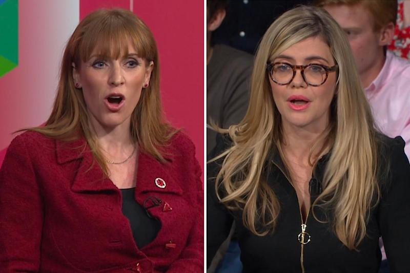 Angela Rayner and Emma Barnett Question Time Composite 09.12.19