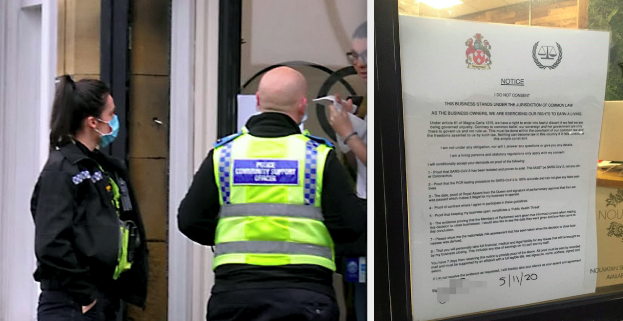 The owner of Quinn Blakey Hairdressing in Bradford has been issued a fine for serving customers during lockdown. (SWNS)