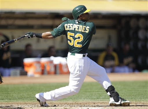 Cespedes hits go-ahead homer as A's beat Mariners