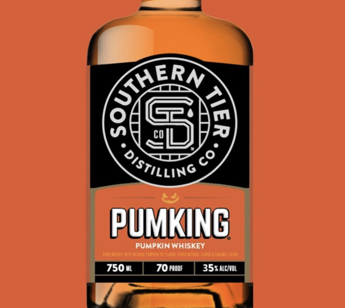 """<p>The same brewery that brought you Pumpking beer (<a href=""""https://stbcbeer.com/"""" rel=""""nofollow noopener"""" target=""""_blank"""" data-ylk=""""slk:Southern Tier Brewing Company"""" class=""""link rapid-noclick-resp"""">Southern Tier Brewing Company</a>, hi!) now brings you the next level of alcoholic pumpkin goodness: """"Pumpking whiskey."""" Who doesn't love an extra hit of sweetness with their sharp, sharp liquor-y spice? It'll reportedly hit stores later this month.</p>"""