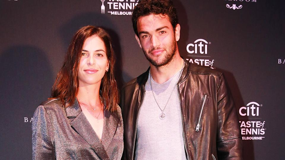 Ajla Tomljanovic and Matteo Berrettini at the Citi Taste of Tennis Melbourne Exclusive in January. (Photo by Wayne Taylor/Getty Images for Citi)