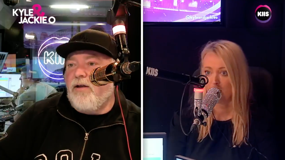 Jackie O sheepishly backtracked after asking State of Origin star Latrell Mitchell an awkward sex question. Photo: Kiis FM