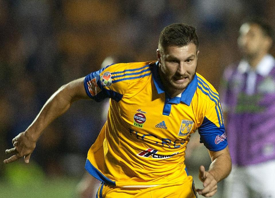 French international striker Andre-Pierre Gignac shocked many in the football world when he snubbed some major European teams to sign for a Mexican club six months ago, but his gamble is paying off. AFP PHOTO/Julio Cesar Aguilar (AFP Photo/JULIO CESAR AGUIAR)