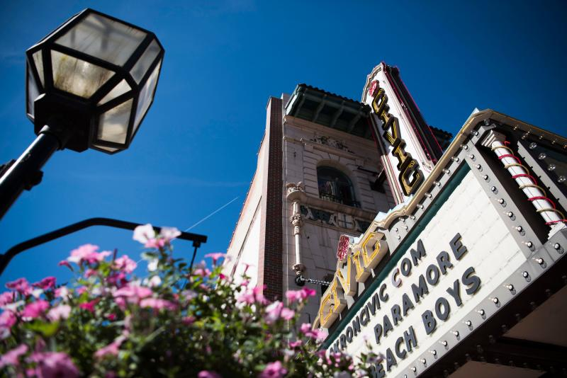The historic Akron Civic Theater downtown.