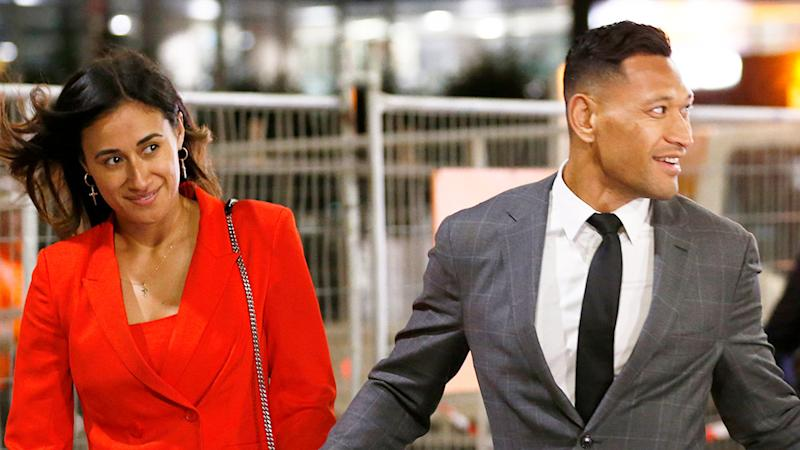 Seen here, Maria and Israel Folau after footy star's court battle with Rugby Australia.