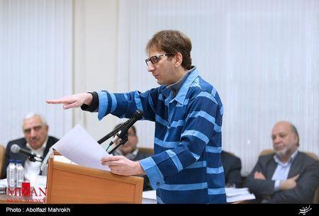 Iranian businessman Babak Zanjani appears during a court session in Tehran in this November 17, 2015 handout photo courtesy of Mizan Online News Agency. REUTERS/www.mizanonline.ir/Handout
