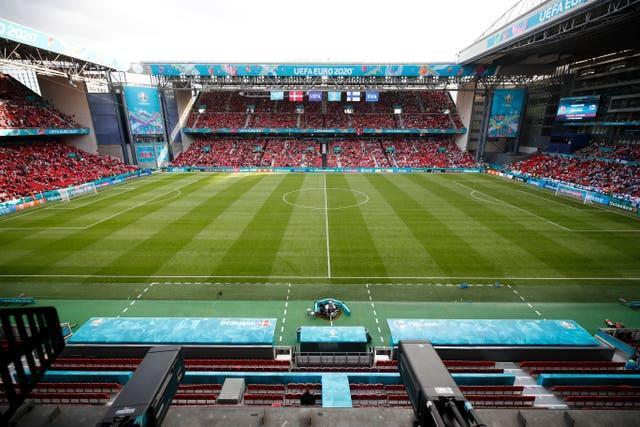 A map setting out the medical provisions at the Parken in Copenhagen would have been supplied in advance to the match delegat