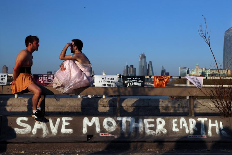Extinction Rebellion: Protesters on Waterloo Bridge (REUTERS)