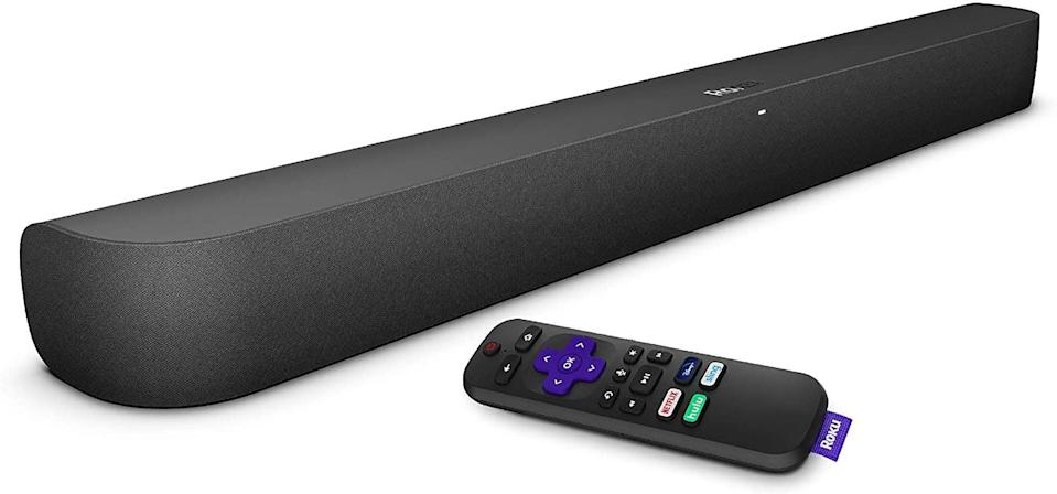 <p>The <span>Roku Smart Soundbar</span> ($180) will instantly upgrade your entertainment space for under $200! This soundbar is not any ordinary sounbar, it comes with Roku's streaming media player built-in! This one-stop-shop is all you need to stream your favorite content with amazing sound quality. It's compatible with Google Assistant and Amazon Alexa.</p>
