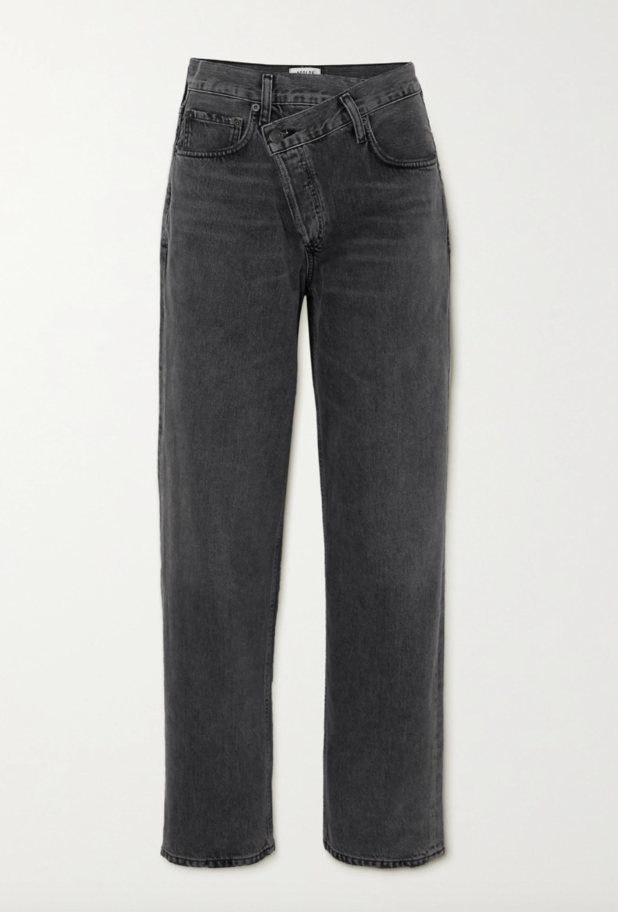 Agolde Criss Cross Upsized High-Rise Tapered Jeans