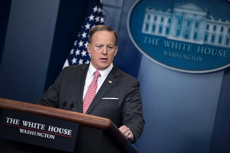 """Despite stressing that Trump wanted to move quickly, White House press secretary Sean Spicer said the focus was to """"get it done right,"""" and not within the 100-day mark, which falls on April 29 (AFP Photo/Brendan Smialowski)"""