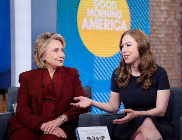 PHOTO: Hillary Clinton and Chelsea Clinton appear on Good Morning America, Oct 1, 2019. (Walt Disney Television)