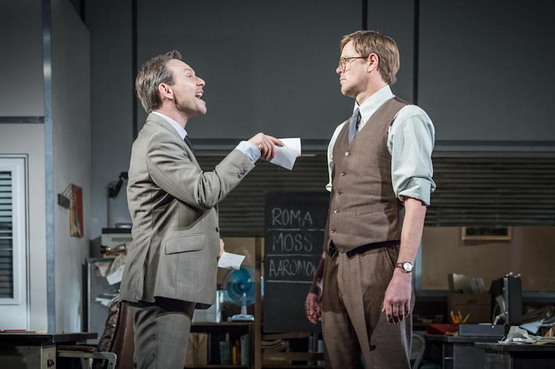 Selling up: Christian Slater and Kris Marshall in Glengarry Glen Ross: Marc Brenner