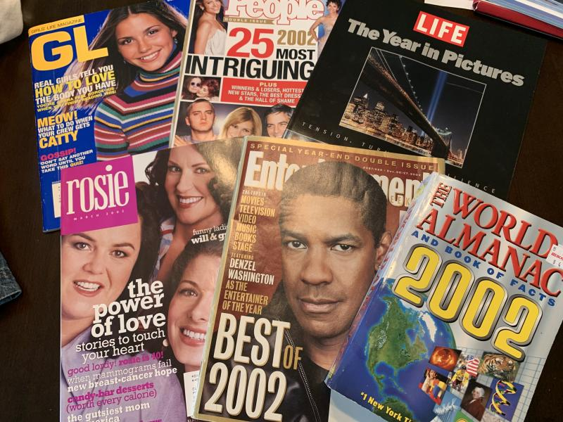 The time capsule included magazines. (Photo: Kim Chastain)