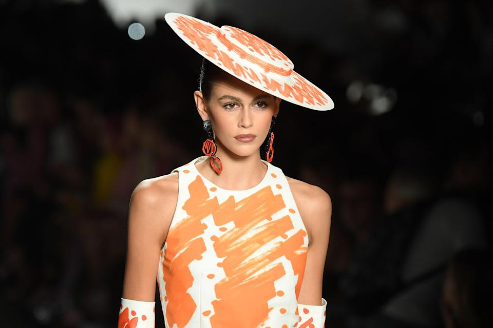 <p>When you think spring makeup, you probably think of glowing and dewy skin, bronzed cheeks, and shades of pretty pastels. The spring 2019 runways had all those things-but it also had pops of electric pink of the lips and lashes, flecks of golden glitter, and metallic foiled lips. Ahead, 62 of our favorite lip, lashes, cheeks, and eye looks for spring from the designer runways in New York, London, Milan, and Paris. </p>