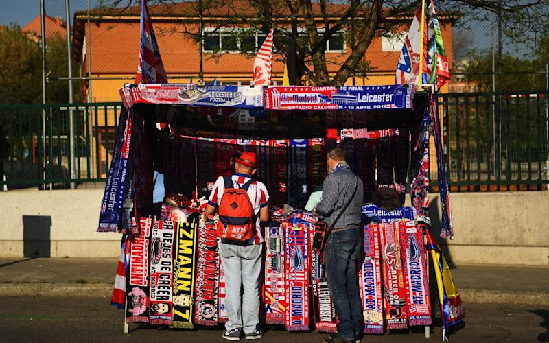 Scarf stall outside the stadium - Credit: Getty Images/David Ramos