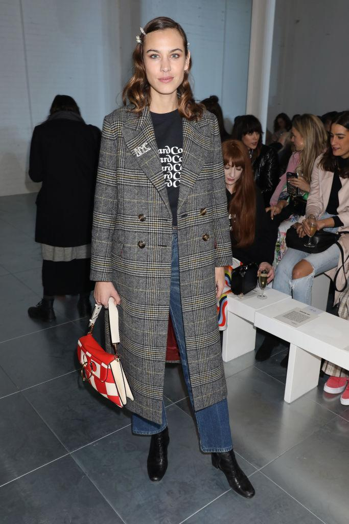<p>attends the House of Holland show during London Fashion Week February 2018 at TopShop Show Space on February 17, 2018 in London, England. </p>
