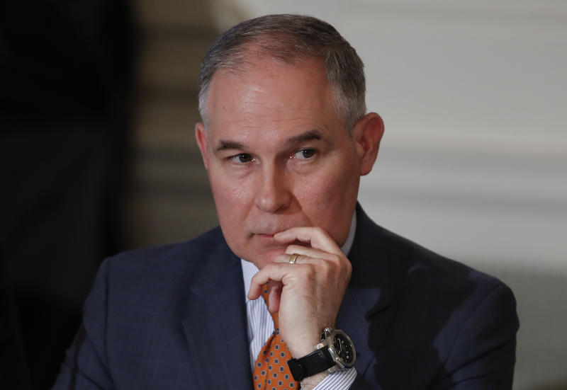 EPA chief says he flies first class due to security concerns