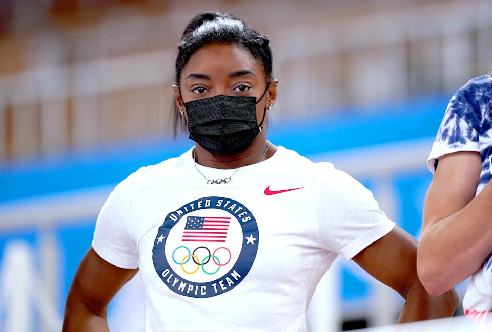 Simone Biles will compete in the balance beam at the Olympics. (Photo by Mike Egerton/PA Images via Getty Images)