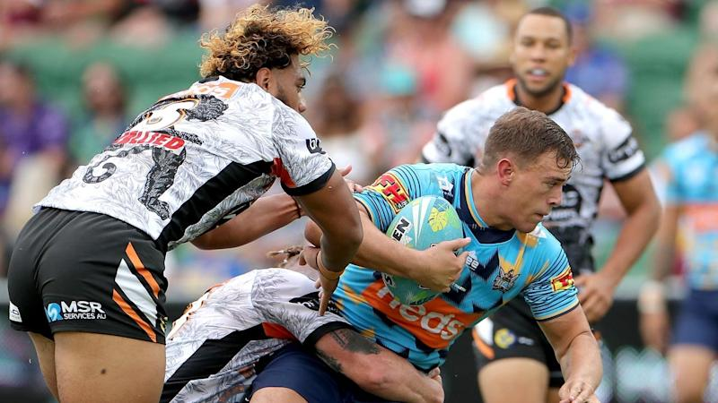 The Gold Coast Titans are undefeated after two games at the NRL Nines in Perth