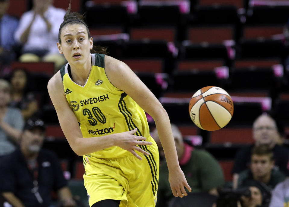 Breanna Stewart made the WNBA All-Star team in her second season on the Seattle Storm. (AP)