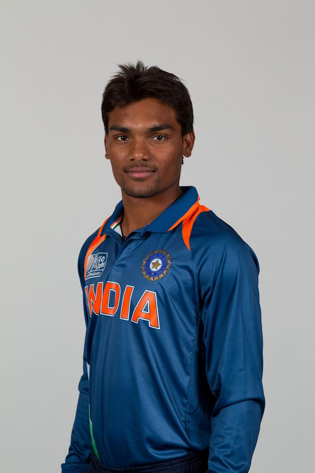 BRISBANE, AUSTRALIA - AUGUST 06:  Sandeep Sharma of India poses during a ICC U19 Cricket World Cup 2012 portrait session at Allan Border Field on August 6, 2012 in Brisbane, Australia.  (Photo by Matt King-ICC/Getty Images)