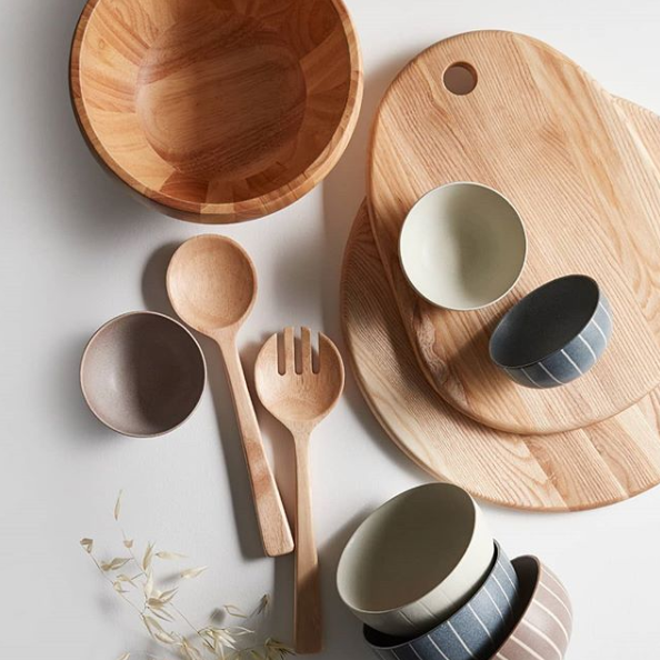 3 Pack 11cm Yensi Bowls, $12, and Wood Servers, $20. Photo: Target.