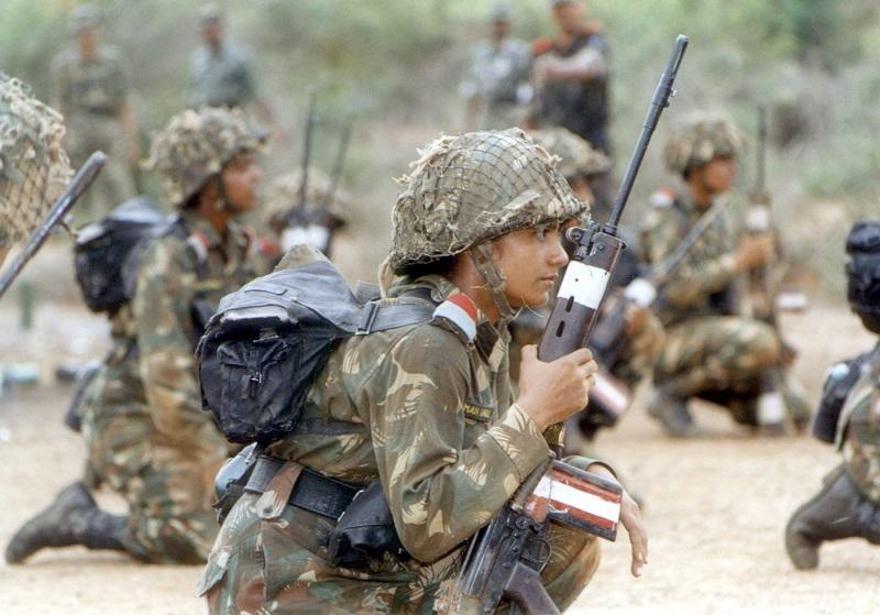 Indian female soldiers at the Officers Training Academy (OTA). Image credit: REUTERS/Lanantha Krishan