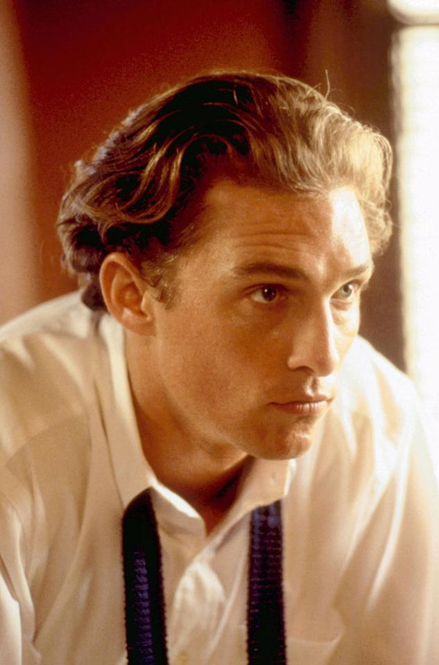 "<a href=""http://movies.yahoo.com/movie/1800261957/info"">A TIME TO KILL</a> (1996)  For McConaughey's first leading role, he showed the world he had movie-star hair: long and wavy, but manageable and close-up ready."