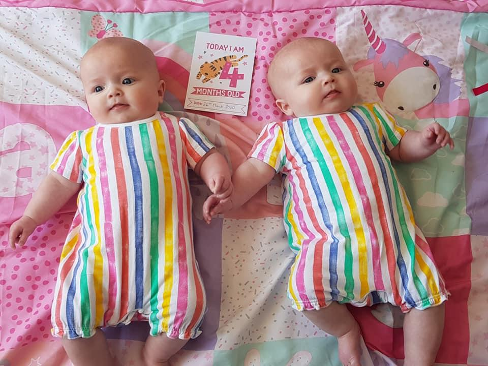 "A mum of identical twin has faced a medical nightmare - one sister is perfectly healthy while the other is struck down with a rare illness from coronavirus.  Mum Hannah Godwin spotted five-month-old Leia with a rash and high temperature next to her ""healthy and happy"" twin.  It struck her even more because identical twin Thea was completely fine - and the difference may have saved her sister's life.  Little Leia was rushed to hospital in the nick of time to be treated for an inflammatory disease in young children linked with an extreme reaction to Covid-19.  Pictured here are twins Leia (left) & Thea.  © Hannah Godwin/WALES NEWS SERVICE"
