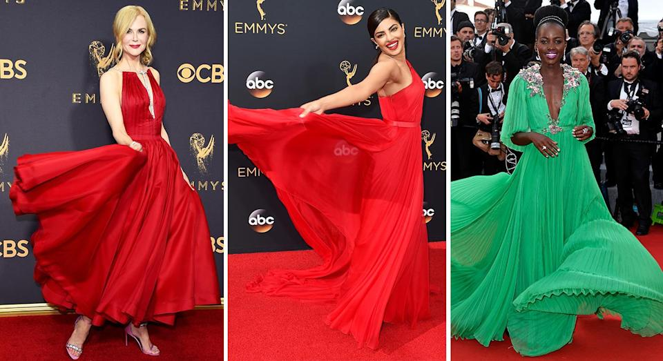 Why do some A-listers decide to twirl on the red carpet? [Photo: Getty]