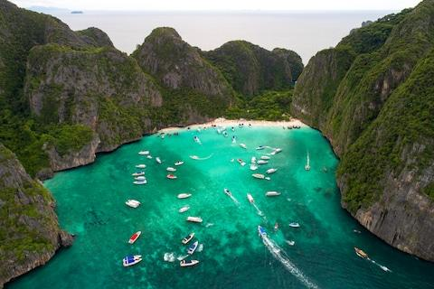Boat tours descend on Maya Bay - Credit: HANNARES
