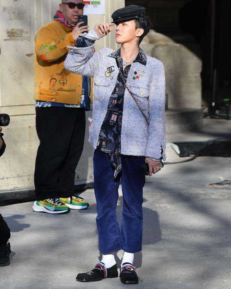 G-Dragon Has the Most Iced Out Loafers in Paris