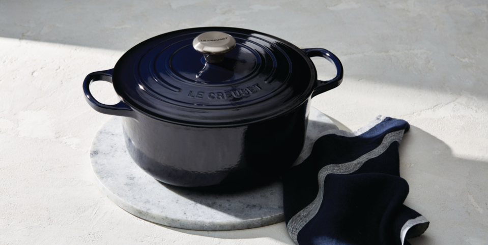 Le Creuset Released A 'Cosmos' Collection That Makes Its Cookware Look Like A Night Sky