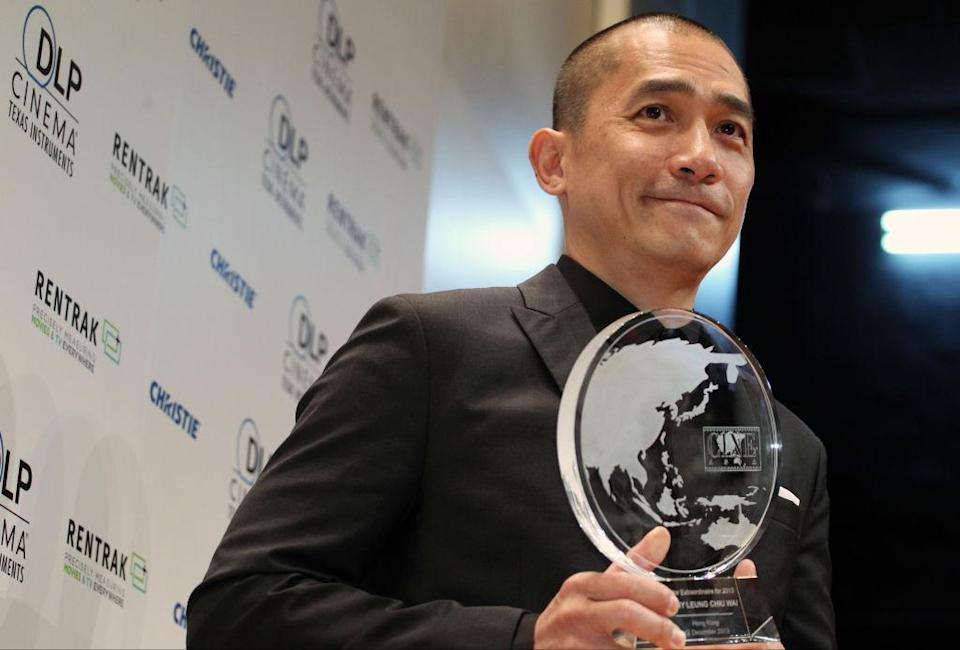 Actor Tony Leung Chiu-wai is honoured as Actor Extraordinaire for 2013 at the CineAsia convention in Hong Kong. 12DEC13 (Photo by Felix Wong/South China Morning Post via Getty Images)