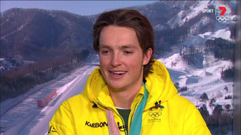 Scotty James just won a bronze medal for Australia in Pyeongchang. Source: Seven