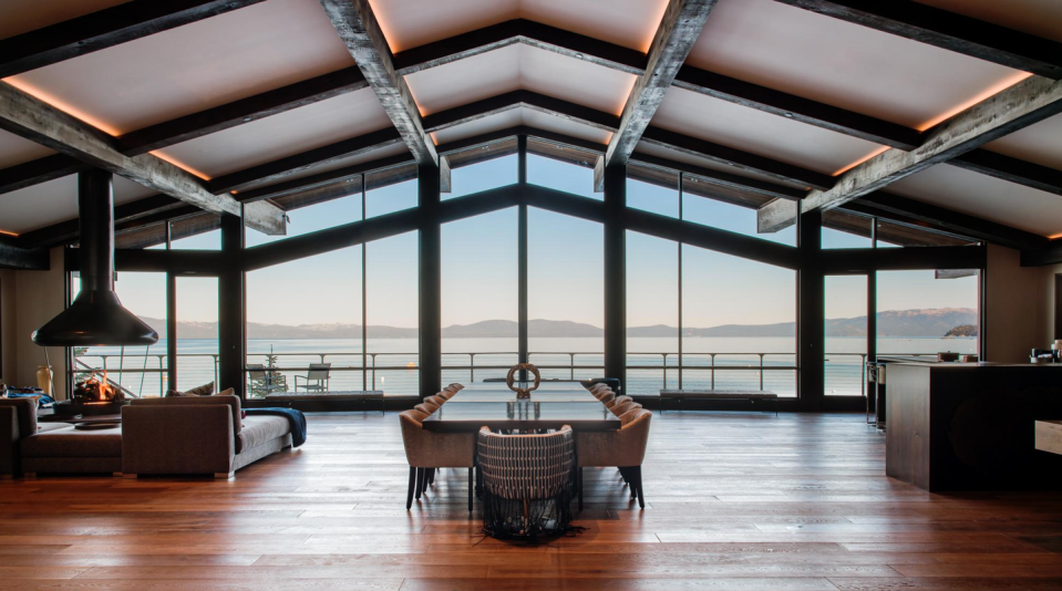 """<p><strong>Sleeps: </strong>16</p><p><strong>Bedrooms: </strong>6</p><p><strong>Why We Love It: </strong>Sometimes a great view is all you need. Shy of South Lake Tahoe, this fantastic home combines the best of two seasons: beachfront in the summer, and nearby ski access in the winter. Have your guests cozy up to the fireplace while taking in the fantastic views in the evening and at breakfast, then spend the day on the shore or the slopes, depending on the time of year you choose.</p><p><a class=""""link rapid-noclick-resp"""" href=""""https://go.redirectingat.com?id=74968X1596630&url=https%3A%2F%2Fwww.airbnb.com%2Fluxury%2Flisting%2F27629013%3Fsource_impression_id%3Dp3_1604935520_BYkhl7aF96xxQfaR%26guests%3D1%26adults%3D1&sref=https%3A%2F%2Fwww.harpersbazaar.com%2Fwedding%2Fplanning%2Fg34670031%2Fbest-north-american-airbnbs-for-weddings%2F"""" rel=""""nofollow noopener"""" target=""""_blank"""" data-ylk=""""slk:BOOK"""">BOOK</a></p>"""