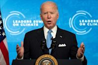 US President Joe Biden was praised by political allies for his emissions cutting pledges