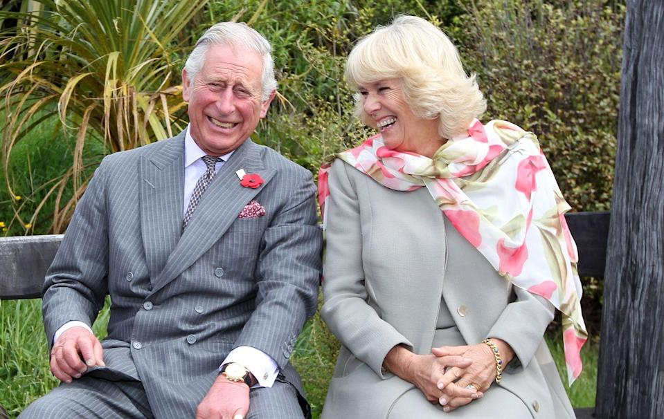 <p>Camilla is known for making Prince Charles laugh, like in this picture from their visit to the Orokonui Ecosanctuary in New Zealand. </p>