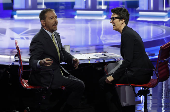 Chuck Todd, left, and Rachel Maddow
