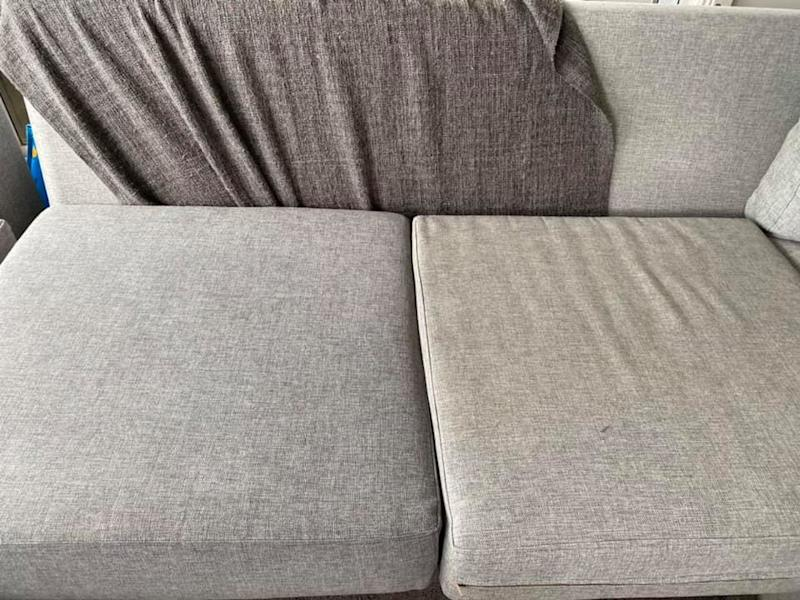 Image of grey couch