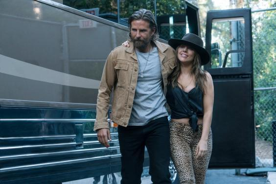 Bradley Cooper and Lady Gaga star as an alcoholic musician and an aspiring singer in the 2018 remake and are potential frontrunners for an Oscar (Clay Enos/Warner Bros/AP)