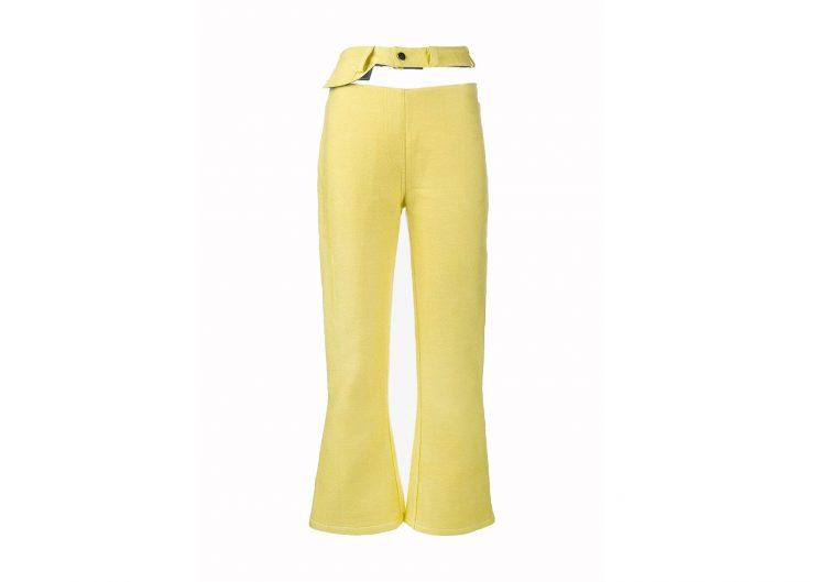 Yellow cut out jeans