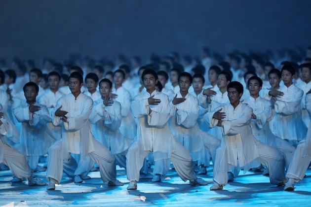 BEIJING - AUGUST 08:  Dancers perform during the Opening Ceremony for the 2008 Beijing Summer Olympics at the National Stadium on August 8, 2008 in Beijing, China.  (Photo by Streeter Lecka/Getty Images)
