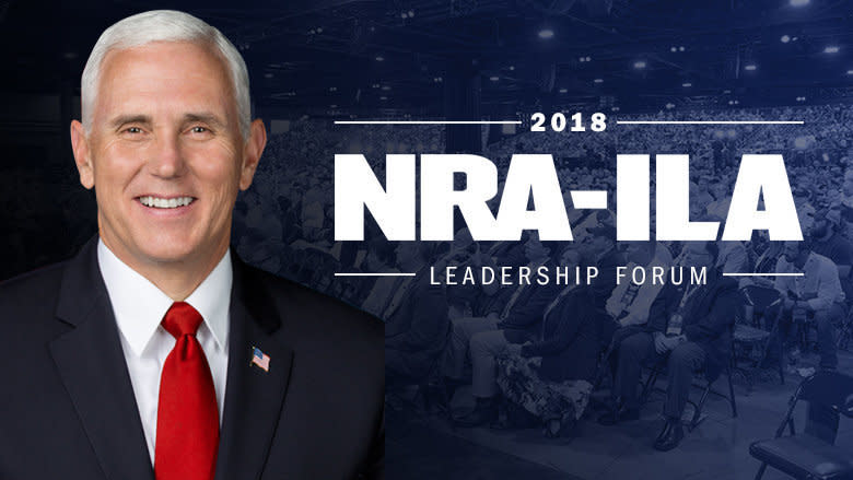 Gun backers can't be packing with Mike Pence around. (NRA screenshot)
