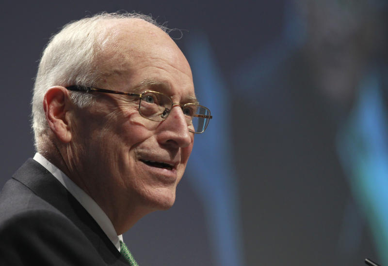 Former Vice President Dick Cheney addresses the Conservative Political Action Conference (CPAC) in Washington, Thursday, Feb. 10, 2011. (AP Photo/Alex Brandon)