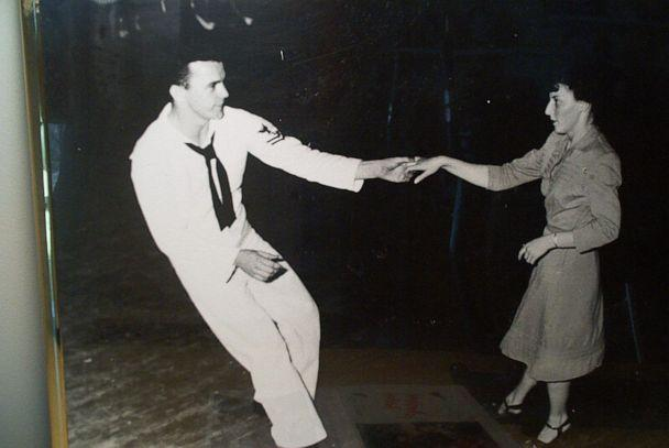 PHOTO: After the war, she married her sailor husband, Norman, who she met on the dance floor. (Mae Krier)